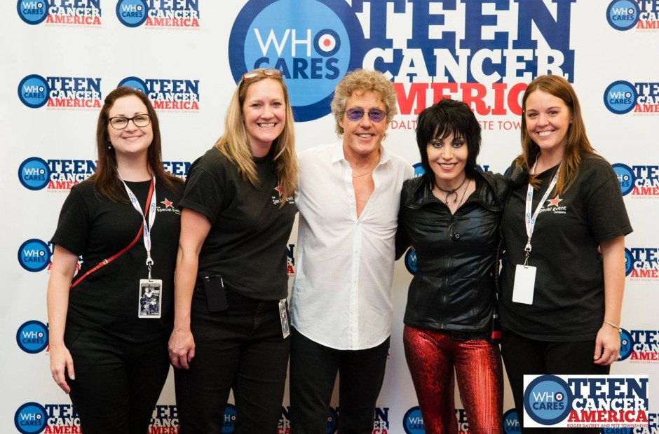 Roger Daltrey and Joan Jett with guests at the Teen Cancer American event