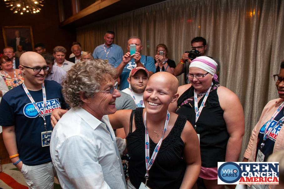 Roger Daltrey and guests at the Teen Cancer America event