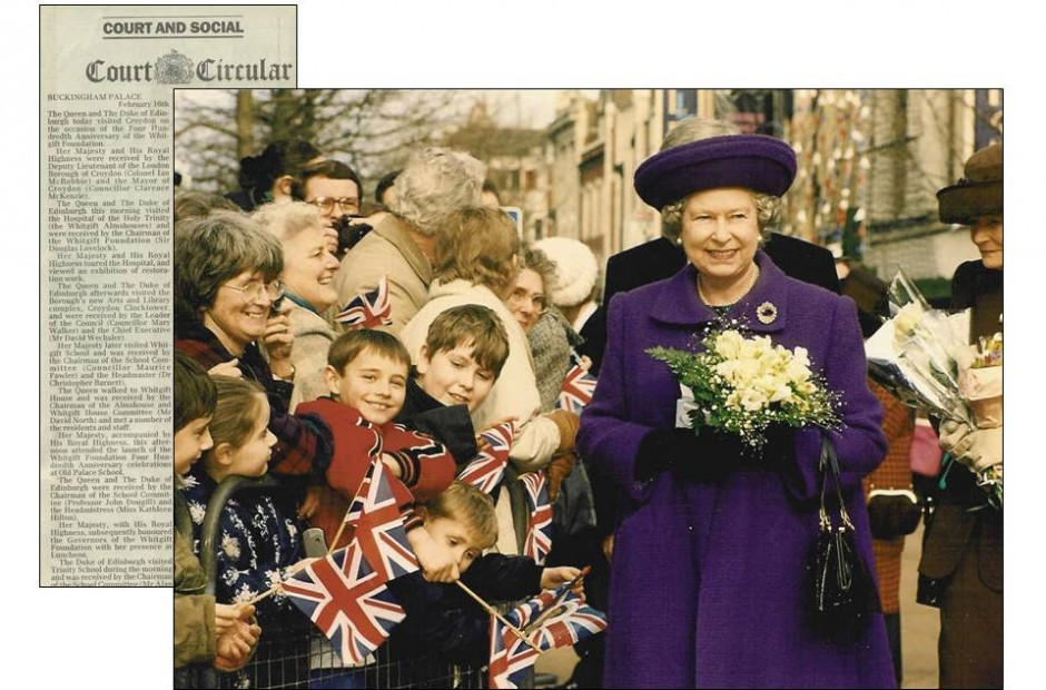 News article and photo of Queen Elizabeth II