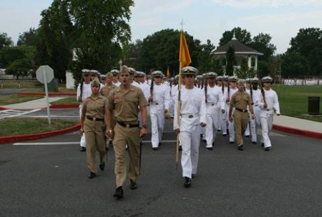 Military march at US Naval Leadership Conference