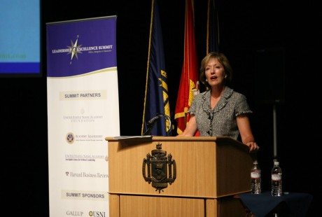 Woman speaking at US Naval Leadership Conference