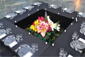 Table set up for event