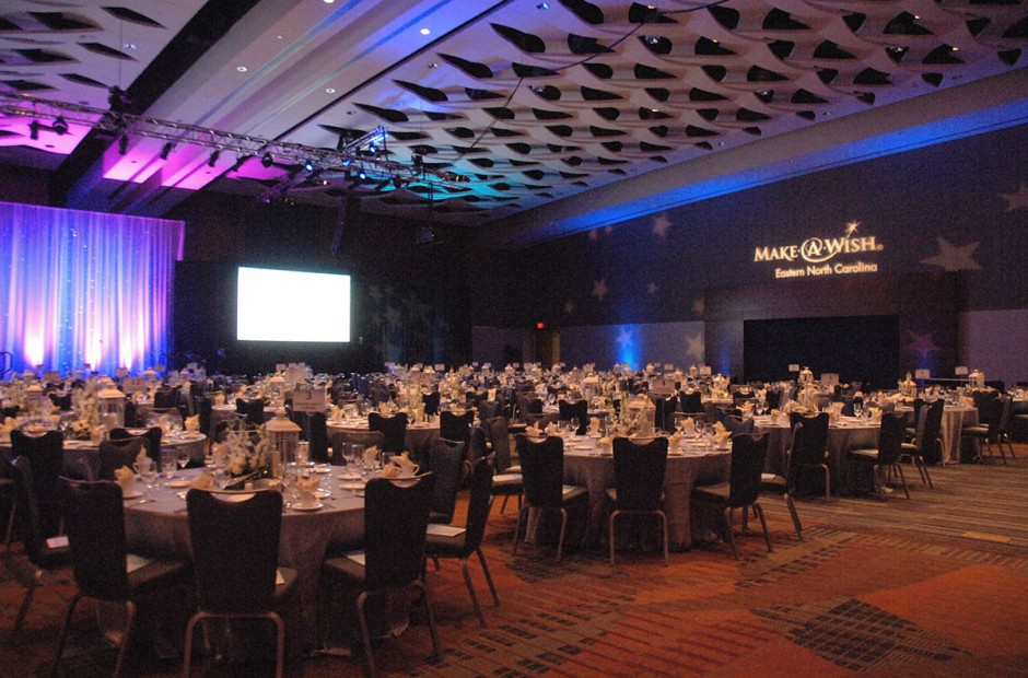 Make-A-Wish Ball setup