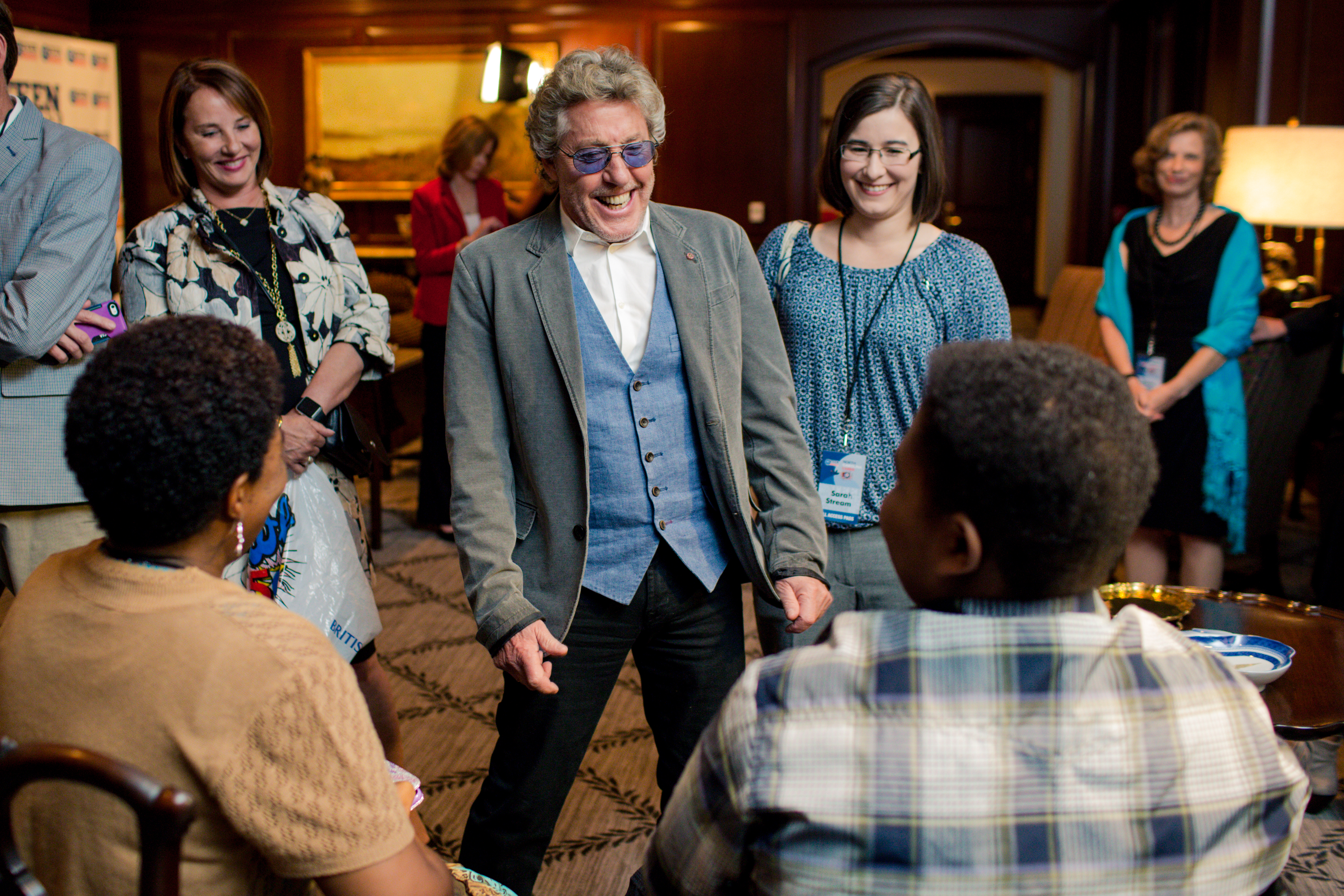 Roger Daltrey Meets with Teenage Guests